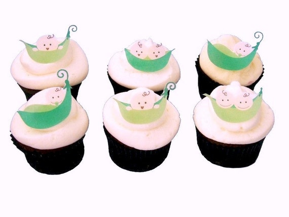 Baby Shower Cake Decorations Edible : Cupcake Decorations for Baby Showers and Birthday Cake Edible