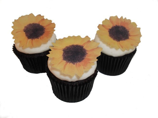 Etsy Cake Decorations : Edible Sunflowers Cake Decorations Cupcake Toppers