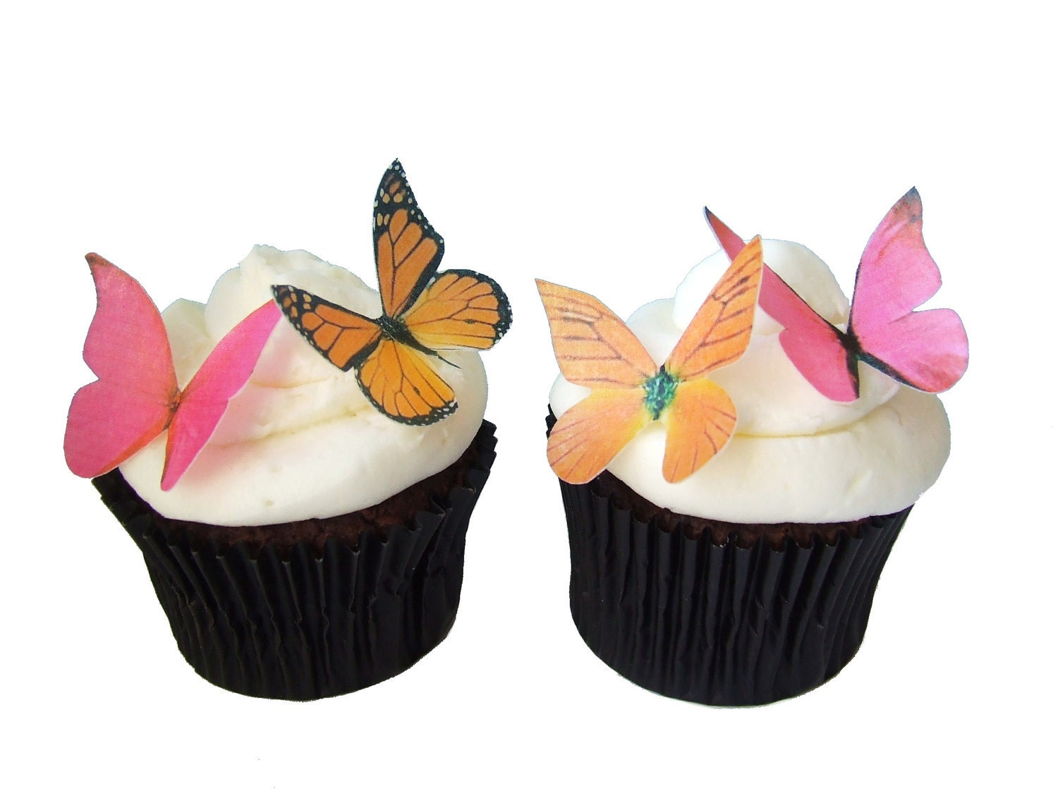 Cake Decorations Edible Pictures : Edible Butterflies CAKE DECORATIONS 24 Edible Butterflies