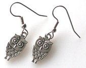 baby owl earrings, owl jewelry, hypoallergenic earrings for sensitive ears, bird earrings owl accessories, surgical steel earrings Jewelry