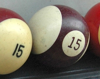 Number 15 Pool Ball