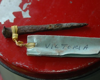 Hand Forged Nail from Archaeological Dig in Victoria BC