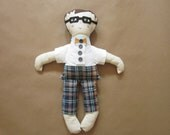 Hand-Crafted Nerdy Boy Rag Doll