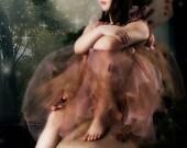 Golden/Mauve Glow Fairy, Empire Dress, Wedding, Photography Prop, Vintage inspired
