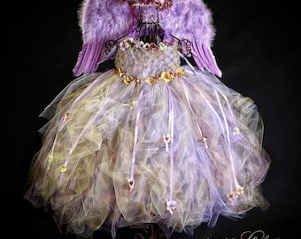 Enchanted Flower Fairy, Purple Fairy, Gold Fairy, Wedding, Photography,Vintage, Romantic