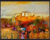 Reserved for Linda Vontor -- original modern oil 35x27 cm apr.14x11 in from series ,,landscapes,, by Eugene Petrov