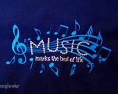 Music marks the beat of life T-Shirt