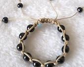 Pearl Bracelet - 6-8 inches 11-12mm Black Freshwater Pearl Bracelet - Free shipping