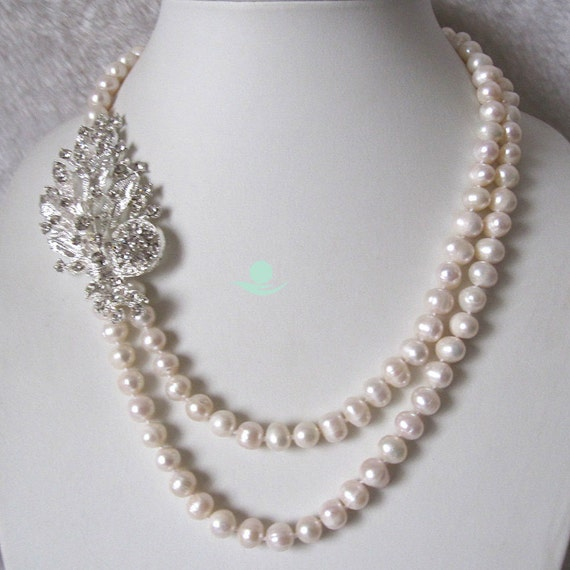 pearl necklace 19 22 inch 8 9mm white by girlslovepearls