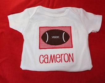 Personalized Football Onesie or Tshirt