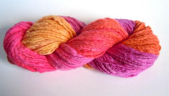 Bubblegum Handspun Hand Dyed Merino Yarn 124g