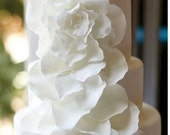 RESERVED LISTING for Lauren Hawes- 50 large and 30 small petals with center rose soft white