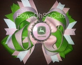 John Deere Boutique Bottlecap Bow