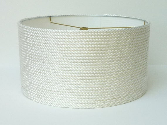 Drum Style Nautical Rope Lamp Shade with ceiling canopy and cordset/fixture