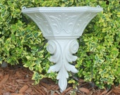 Creamy ivory wall sconce romantic wall sconce wedding decor shabby chic sconce wall pocket