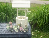 Wishing well wedding romantic cream upcycled vintage shabby chic rustic roof wedding wishes