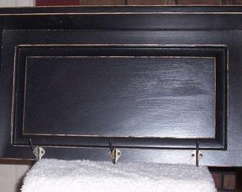 Shelf, Coathooks,shabby chic, wood, black
