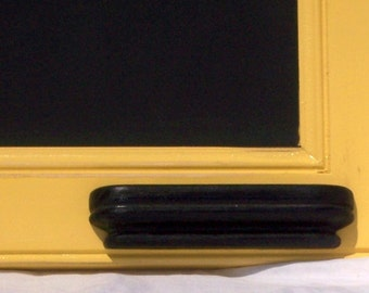Shabby chic chalkboard rustic chalkboard message board warm yellow chalkboard chalk tray