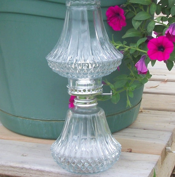 Vintage Crystal Oil Lamp Shabby Chic Weddings Extreme