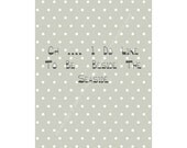 Sea side Blue, Beach Baby, Polka Dots Typography - Poster - Home Decor