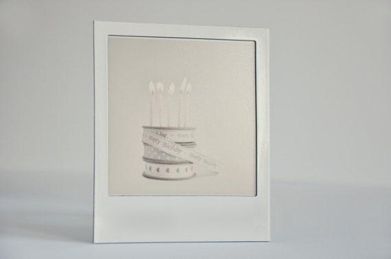 happy birthday polaroid fridge magnet photo frame by volume13. Black Bedroom Furniture Sets. Home Design Ideas
