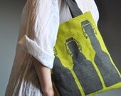 Handmade art&craft needlepoint Bottles tote Bag