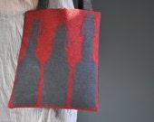 Handmade art&craft needlepoint Bottles tote Bag
