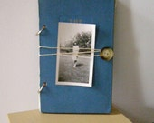 ThisPage Recycled Journal (The Garden Pool): Handmade Ecofriendly Repurposed Sketchbook