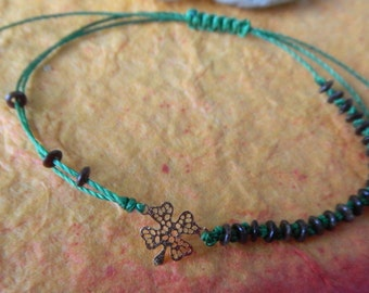 Gold Tone CLOVER LEAF Bracelet- Wish for Your Heart's Desire - Good Luck, Hope, Healing  and Prosperity Today and Everyday