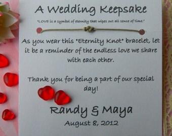 Eternity Knot Adjustable Bracelet Wedding Favors