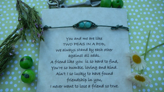 Two Peas In A Pod Thin Leather String Bracelet For Your Bffs