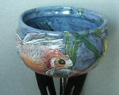 Ceramic Goldfish Bowl on Tall Legs