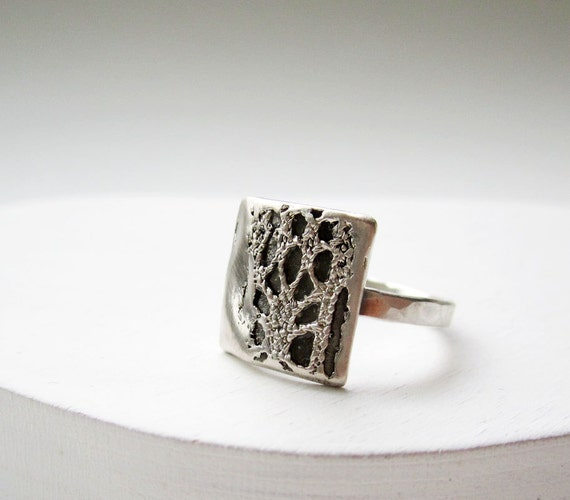 Silver Lace Ring- Style6 Square