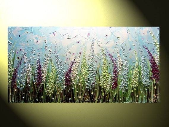 Original Abstract Palette Knife Painting Textured Impasto