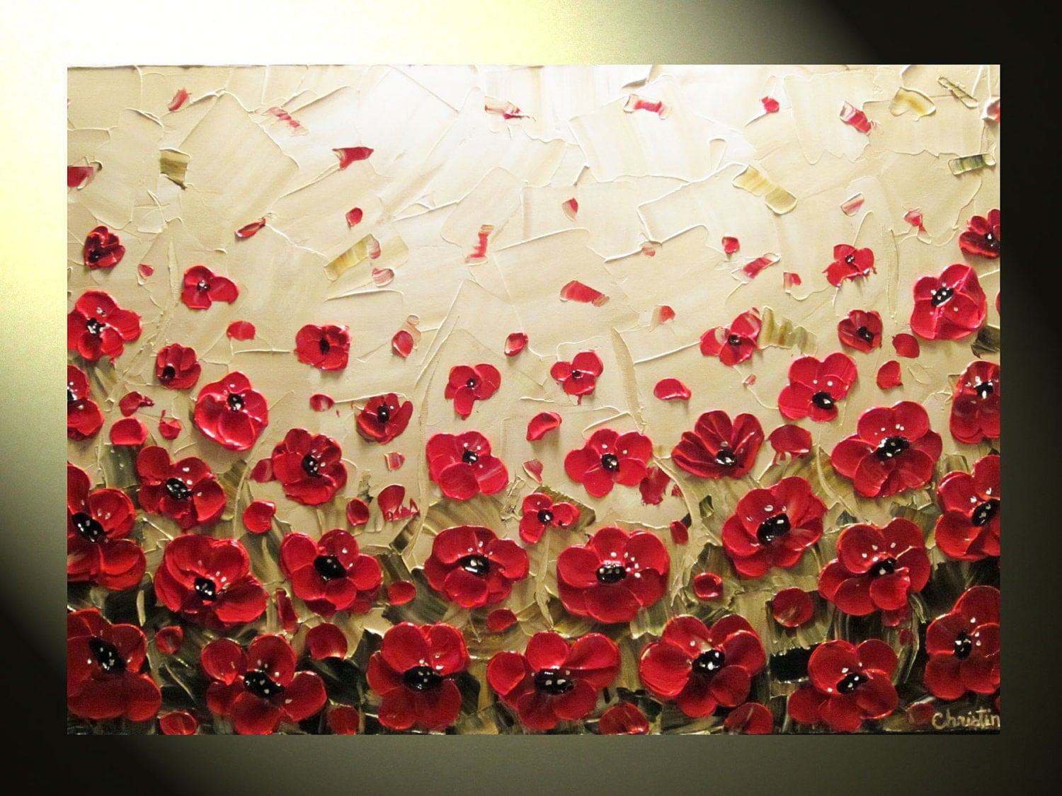 Request a custom order and have something made just for you Poppy Flowers Painting