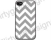 Gray Chevron  - iPhone 4 4s IPhone hard Case cover