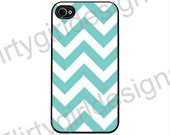Apple iPhone 4 4s iPhone hard Case cover Chevron Teal
