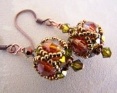Swarovski crystal handwoven earrings