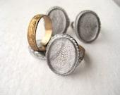 Vintage Ring Settings Mountings - 18x13, silver, gold, art noveau, art deco, adjustable (4)