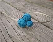 Turquoise Rosette Flower Headband  for Women
