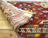RESERVED Red and Ivory Vintage Persian Rug