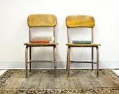 Vintage Heywood Wakefield Chair Pair