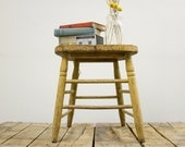 DISCOUNTED Primitive Rustic Wooden Chair Stool or Side Table