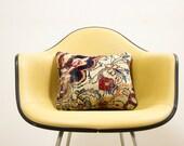 Circa 1850 Antique Persian Rug Pillow