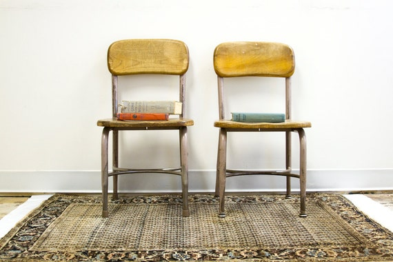 Vintage Heywood Wakefield Chair Pair