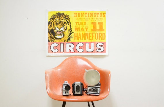 Retro Hanneford Circus Poster with Lion
