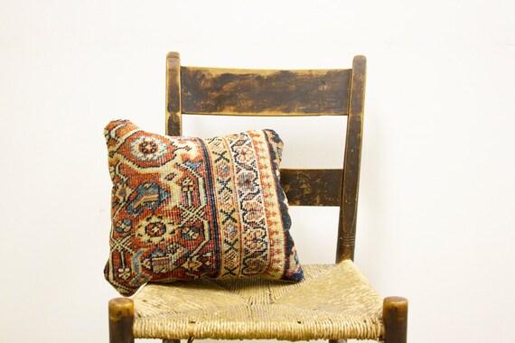 Circa 1890 Antique Persian Rug Pillow