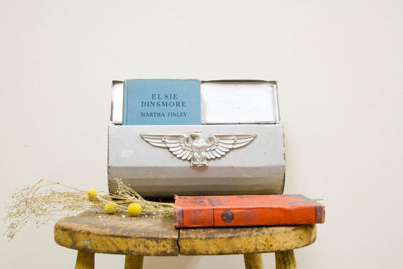 Industrial Hangable Silver Mailbox with Eagle