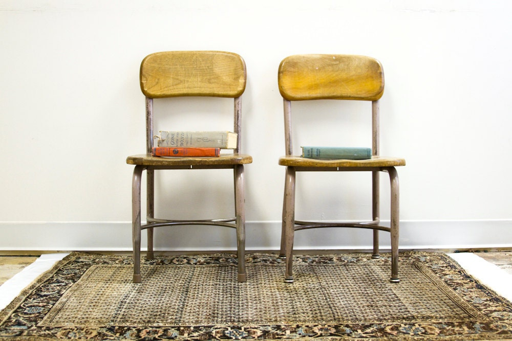 Vintage Heywood Wakefield Chair Pair by oldnewhouse on Etsy