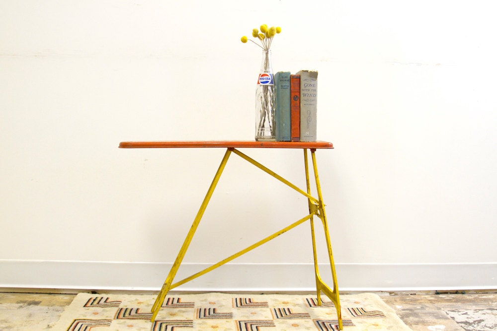 Little Industrial Shelf Mid Century Metal Ironing Board